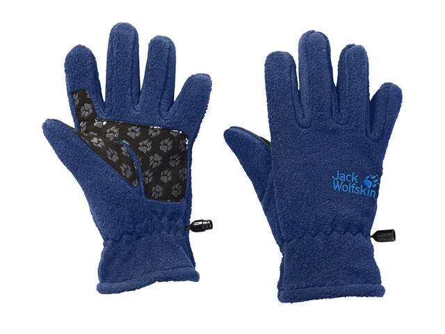 Jack Wolfskin Fleece Gloves Rękawiczki Dzieci niebieski